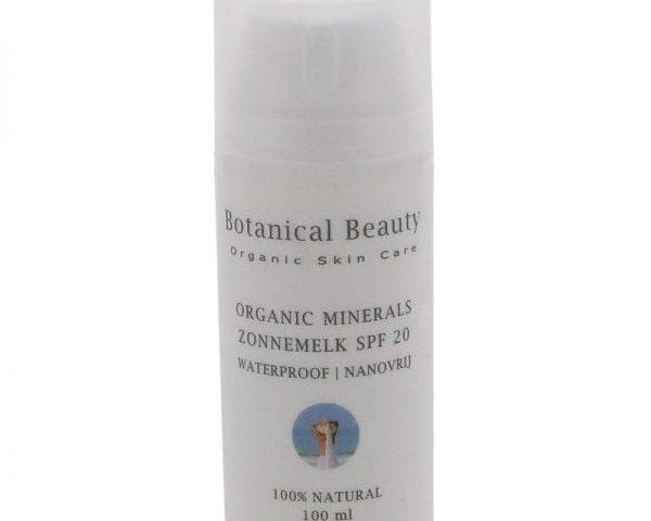 Pedicuresalon Janice - Natuurlijke huidverzorging - Botanical Beauty - Organic Minerals Zonnemelk 100 ml