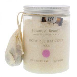 Pedicuresalon Janice - Natuurlijke huidverzorging - Botanical Beauty - Roos Dode Zee Badzout 850 gram