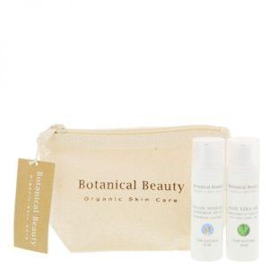 Pedicuresalon Janice - Natuurlijke huidverzorging - Botanical Beauty - Toilettas met 2 Zonneproducten