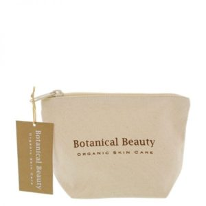 Pedicuresalon Janice - Natuurlijke huidverzorging - Botanical Beauty - Toilettasje 100% Biologisch Katoen